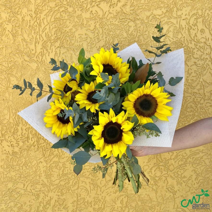 Trong tình yêu, hoa hướng dương tượng trưng cho sự chung thủy, tình yêu thầm lặng, sự ấm áp, chân thành